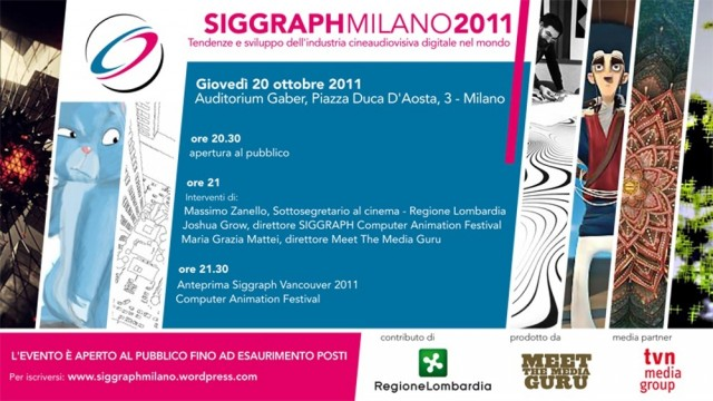 Siggraph Milano 2011 - programma