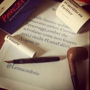 I rotolini #LunaFalò tra penna e pipa di Cesare Pavese